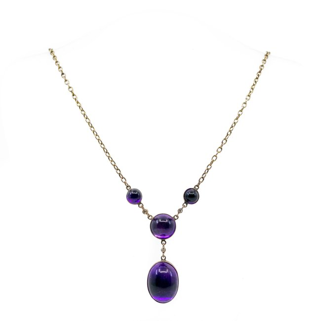 Amethyst, Diamond, Gold Necklace 0971SY Image2