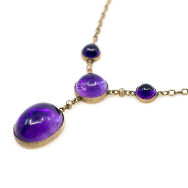 Amethyst, Diamond, Gold Necklace 0971SY Image4