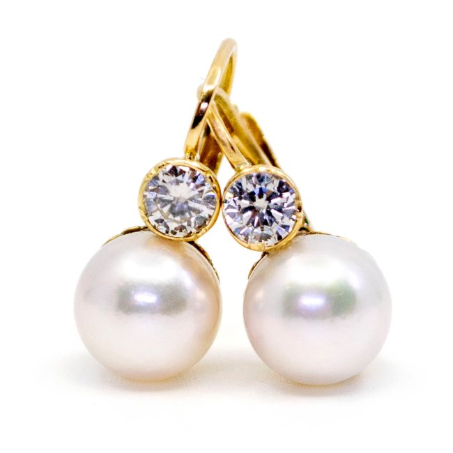 Diamond, Pearl, Gold Earrings 6353LA Image1