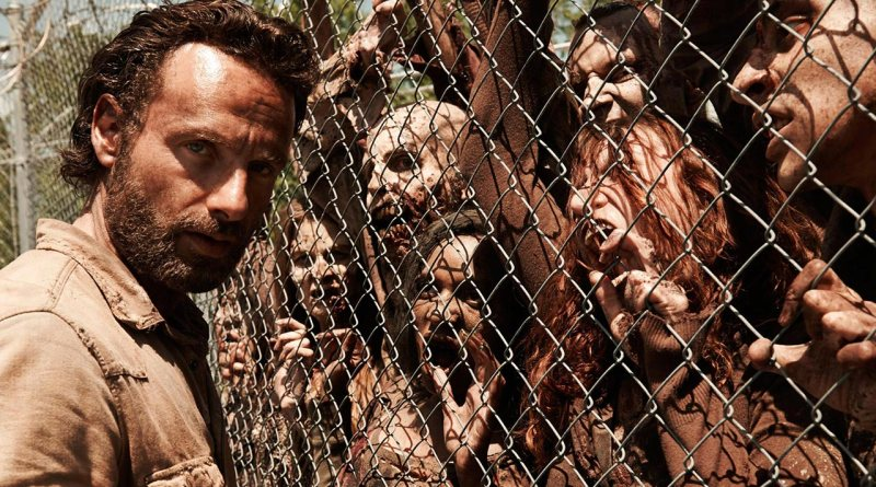 Rick Grimes face-to-face with the walking dead.