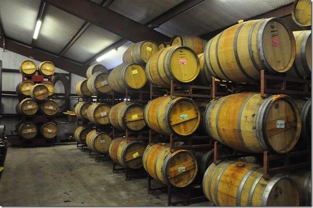 Pheasant Ridge wine barrels