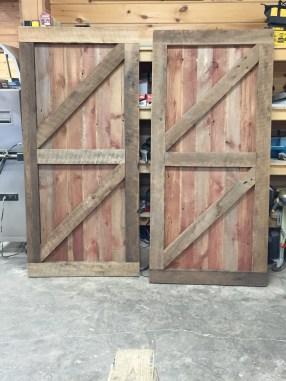 Reclaimed sliding barn doors