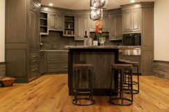 Reclaimed Weathered Grey Barnboard Kitchen Accents