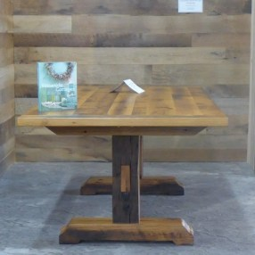 Reclaimed Oak table with reclaimed timber trestle base