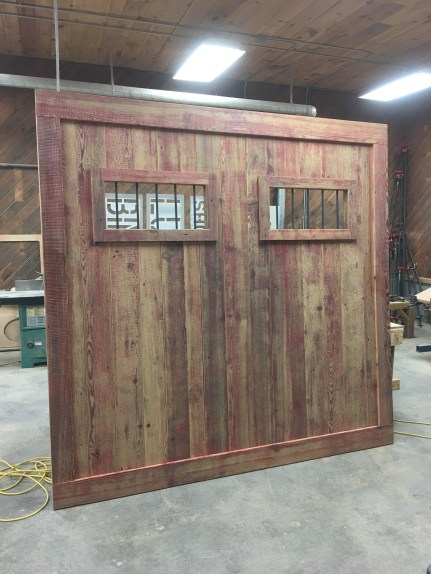Faded Red Barn Door
