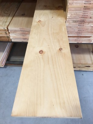 Wide Pine Board shown here in a knotty grade and wide width.