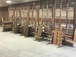 Reclaimed lumber from in our Reclaimed Lumber racks.