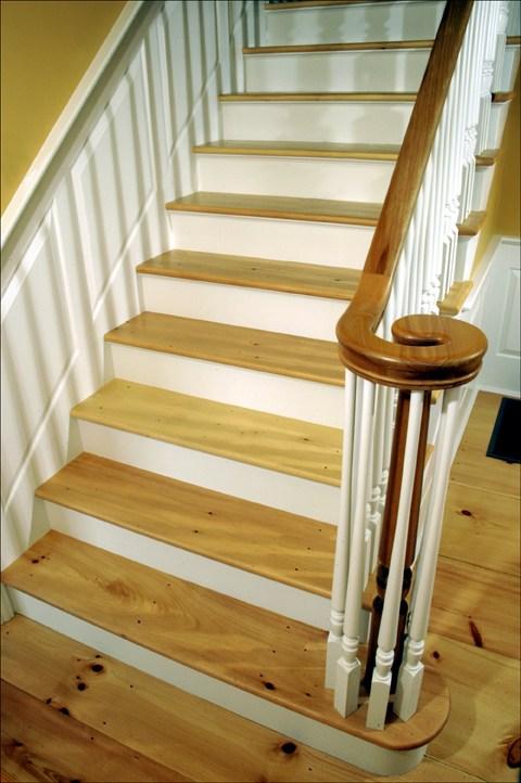 Custom Stair Treads Bingham Lumber | Unfinished Pine Stair Tread | Wood | Stair Parts | Red Oak Stair | Stair Railing | Basement Stairs
