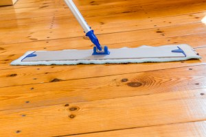 image of a floor being cleaned