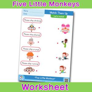 Five little monkeys free english worksheet matching time 2 five little monkeys free english worksheet matching time 2 ibookread ePUb