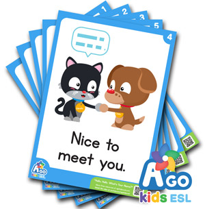 Hello Hello What's Your Name Flashcard ESL Pack Free
