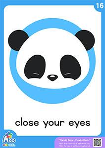 Panda bear flashcards