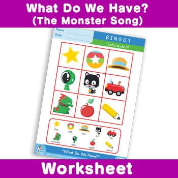 What Do We Have? (The Monster Song) Worksheet - BINGO 1