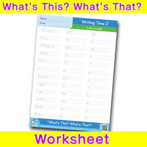 Whats this whats that worksheet writing time 2