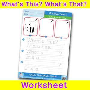 Whats this whats that worksheet question time 1