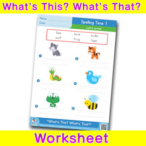 Whats this whats that worksheet spelling time 1