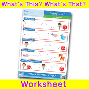 Whats this whats that worksheet tracing time 1