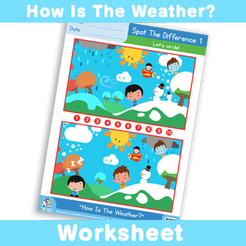 How Is The Weather? Worksheet - Spot The Difference 1