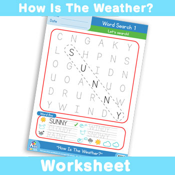 How Is The Weather - Word Search 1