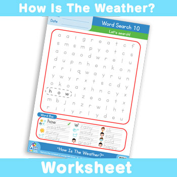 How Is The Weather? Worksheet - Word Search 10
