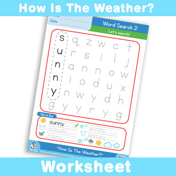 How Is The Weather? Worksheet - Word Search 4