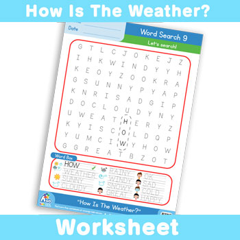 How Is The Weather? Worksheet - Word Search 9