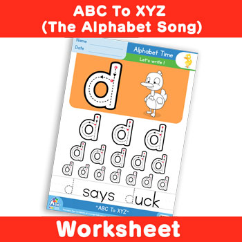 ABC To XYZ (The Alphabet Song) - Lowercase d