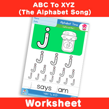 ABC To XYZ (The Alphabet Song) - Lowercase j