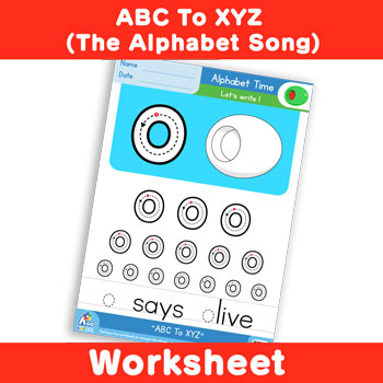 free alphabet writing practice worksheet alphabet time lowercase o