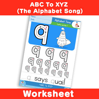 ABC To XYZ (The Alphabet Song) - Lowercase q