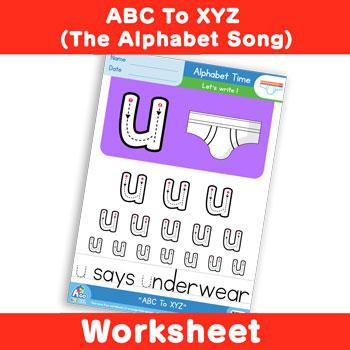 ABC To XYZ (The Alphabet Song) - Lowercase u