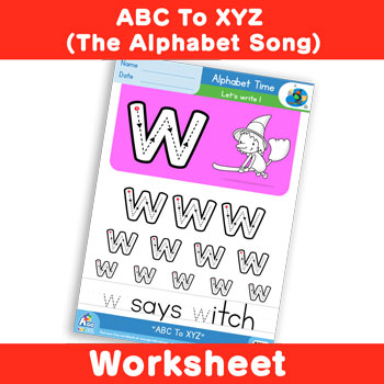 ABC To XYZ (The Alphabet Song) - Lowercase w