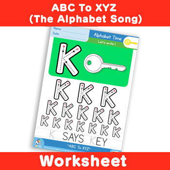 ABC To XYZ (The Alphabet Song) - Uppercase K