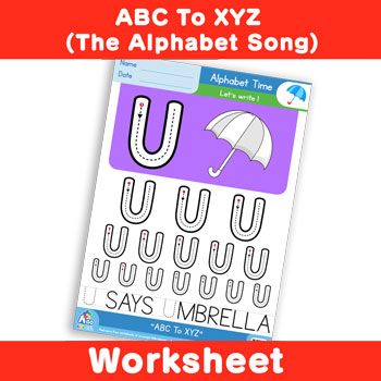 ABC To XYZ (The Alphabet Song) - Uppercase U