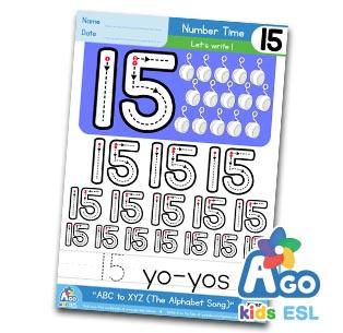 Alphabet Number Practice 15