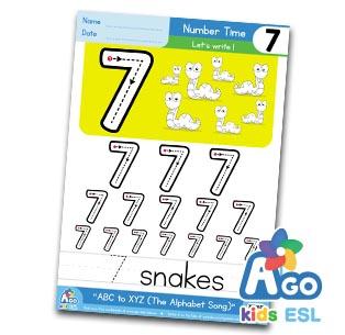 Alphabet Number Practice 7