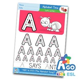 Alphabet Number Practice A