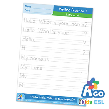 Hello What's Your Name ESL writing