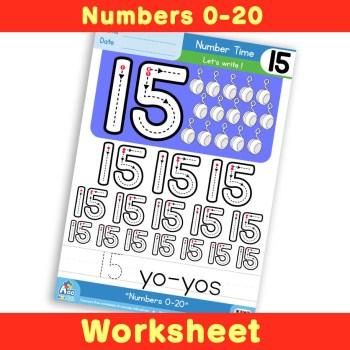 Free Number Writing Practice Worksheet 15