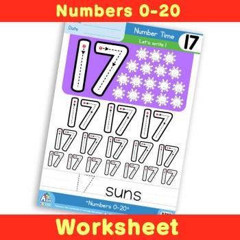 Free Number Writing Practice Worksheet 17