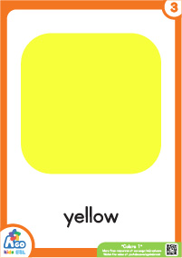 Colors Educational Flashcard Set - Yellow