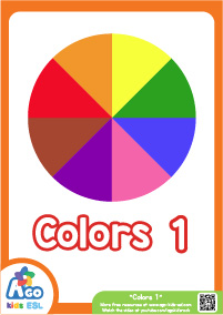 Colors Educational Flashcard Set