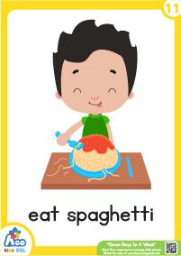 Seven Days In A Week - eate spaghetti