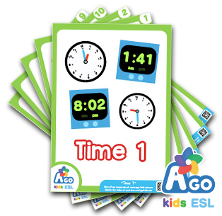 Free ESL Time flashcard set