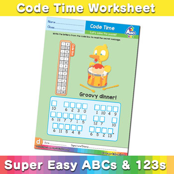 abc alphabet decoder worksheet D2