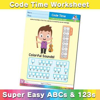 Alphabet ABC decoder worksheet v