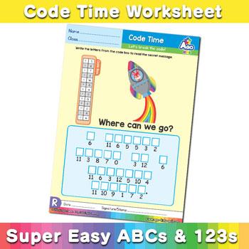Alphabet ABC decoder worksheet r