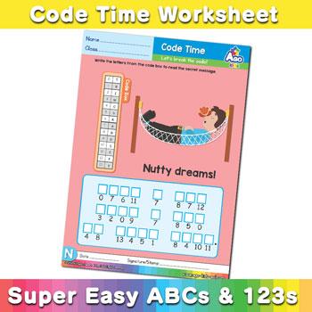 Alphabet ABC decoder worksheet n