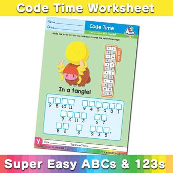 Alphabet ABC decoder worksheet Y2