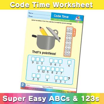 Alphabet ABC decoder worksheet p